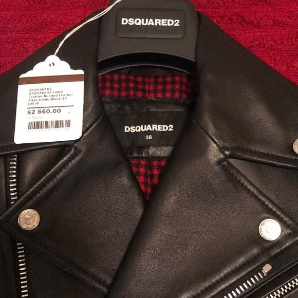918e427c DSQUARED Jackets & Coats | 2 Leather Bomber Jacket Sz 38 Womens ...
